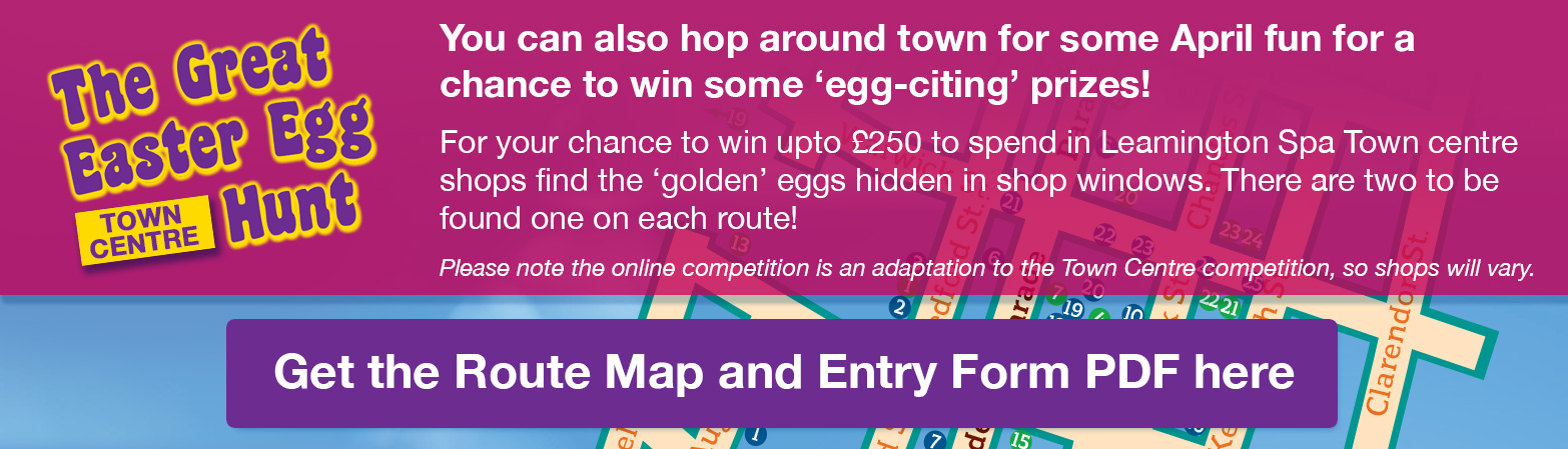 The Great Easter Egg Hunt Competition - View the town plan route and entry form PDF